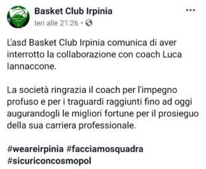 esonero coach Iannaccone