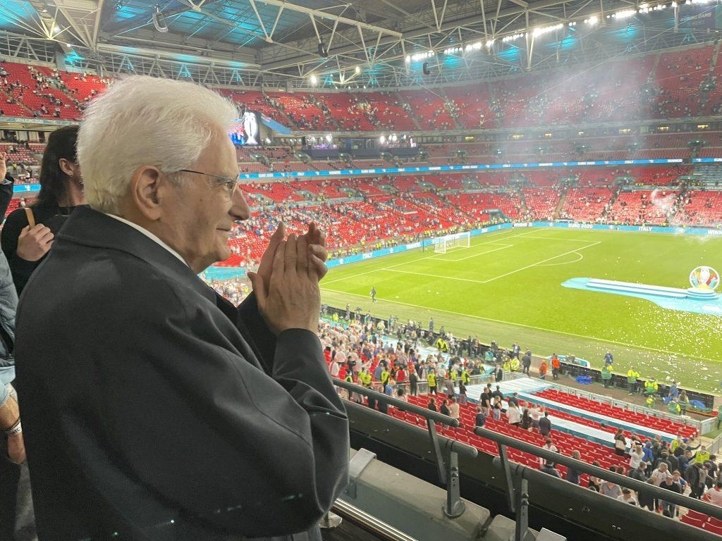 Inghilterra - Italia Mattarella allo stadio